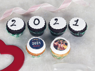 Set Of 6 New Year Cupcakes