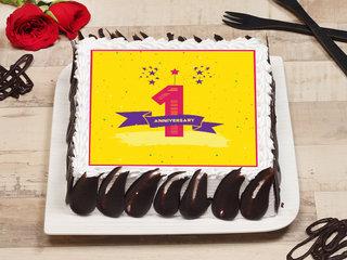 First Anniversary Photo Cake