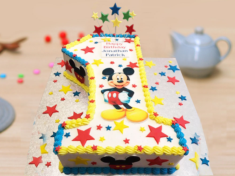 1st Birthday Mickey Mouse Party Cake