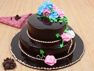 Dreamy Chocostacy - 2 Tier Chocolate Cake