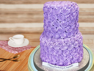 Purple Rose Swirl Cake