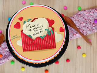 2021 Valentines Day Poster Cake