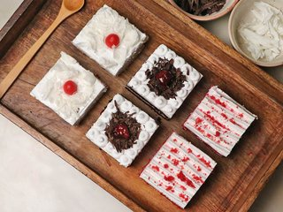 3 In 1 Pack Of Red Velvet Black And White Forest Pastries