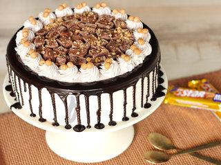 Caramel Crunch Cream Cake-Five Star Cake