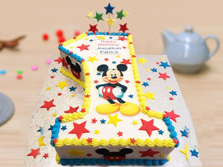 One Number Cake for First Birthday