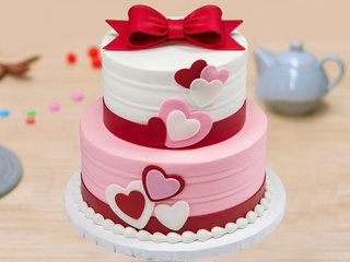 Two Tier Love Cake