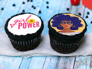 Women's Day Chocolate Poster CupCakes