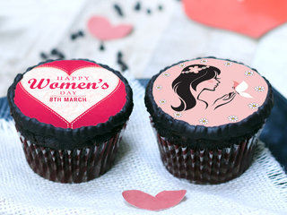 Chocolate Women's Day Poster Cup Cakes