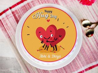 A photo cake for hug day