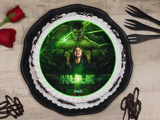 Hulk Theme Poster Cake