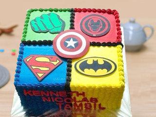 Square Shaped Superhero Cake