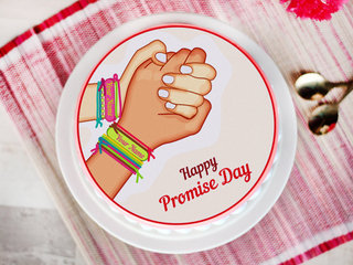 A photo cake for promise day