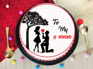 A photo cake for propose day
