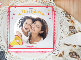 Angelic Beauty photo cake for birthday
