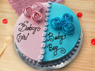 Birthday Cake for Baby Boy and Baby Girl