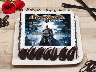 Square-shaped Batman Poster Cake