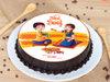 Bhai Dooj Chocolate Poster Cake