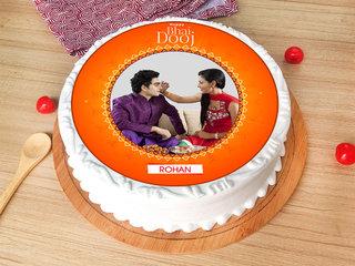 Bhai Dooj Photo Cake