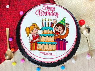 Wish Come True - Round Animated Cake for Children