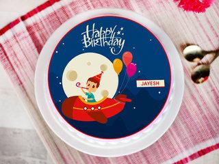 Soaring High Cake - Round Cartoon Cake for Kids