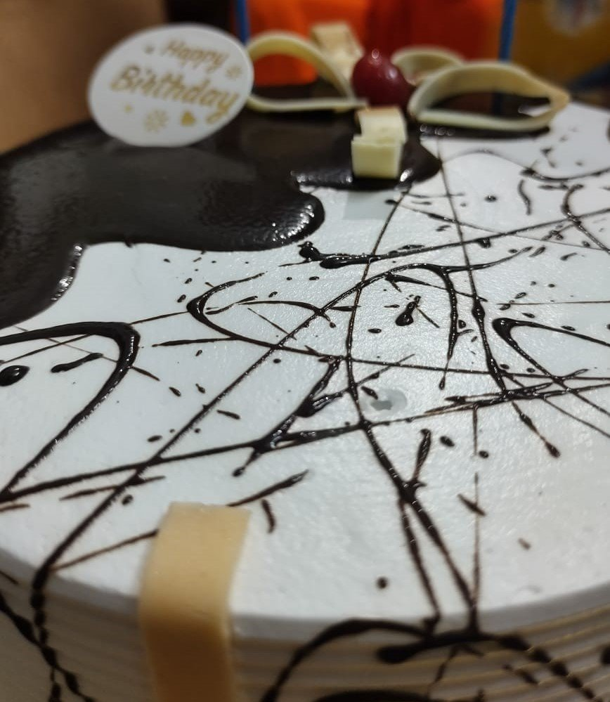 Birthday Photo Cake 9 Square Shape