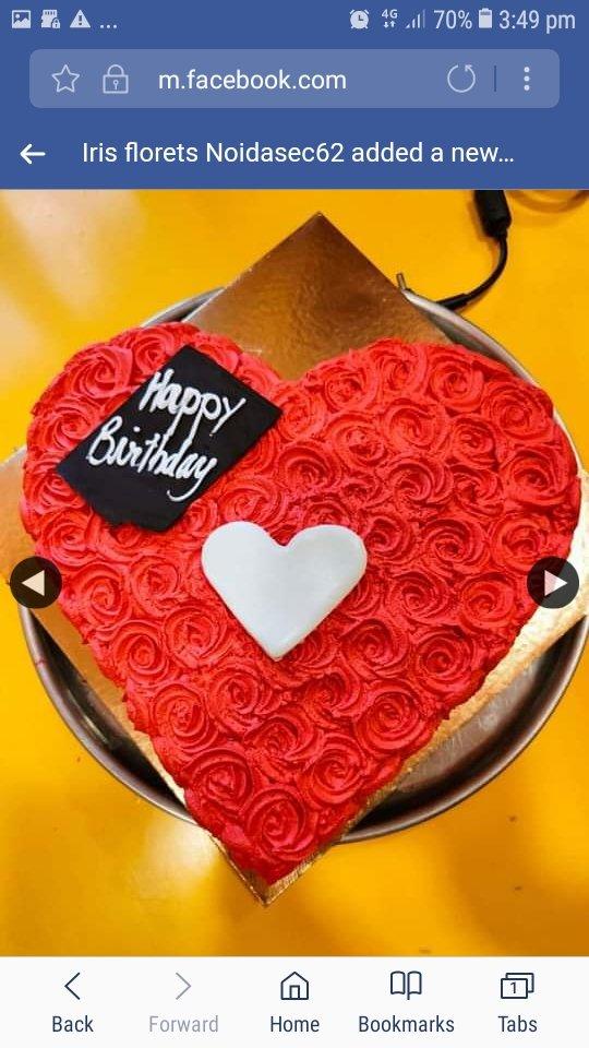 Fondant Heart In A Heart Shaped Chocolate Cake