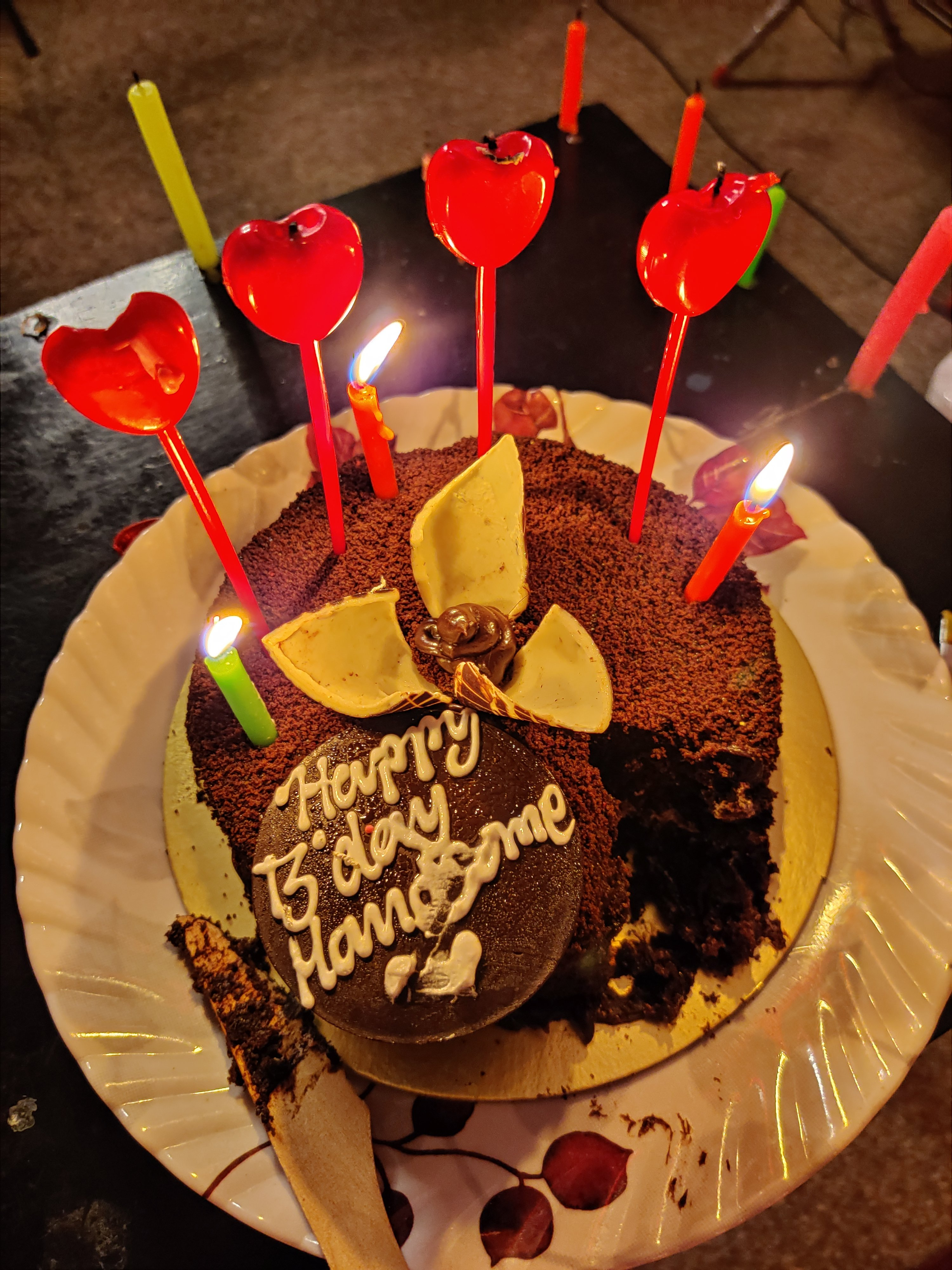 Round Chocolate Cake N Milk Chocolate Brooch