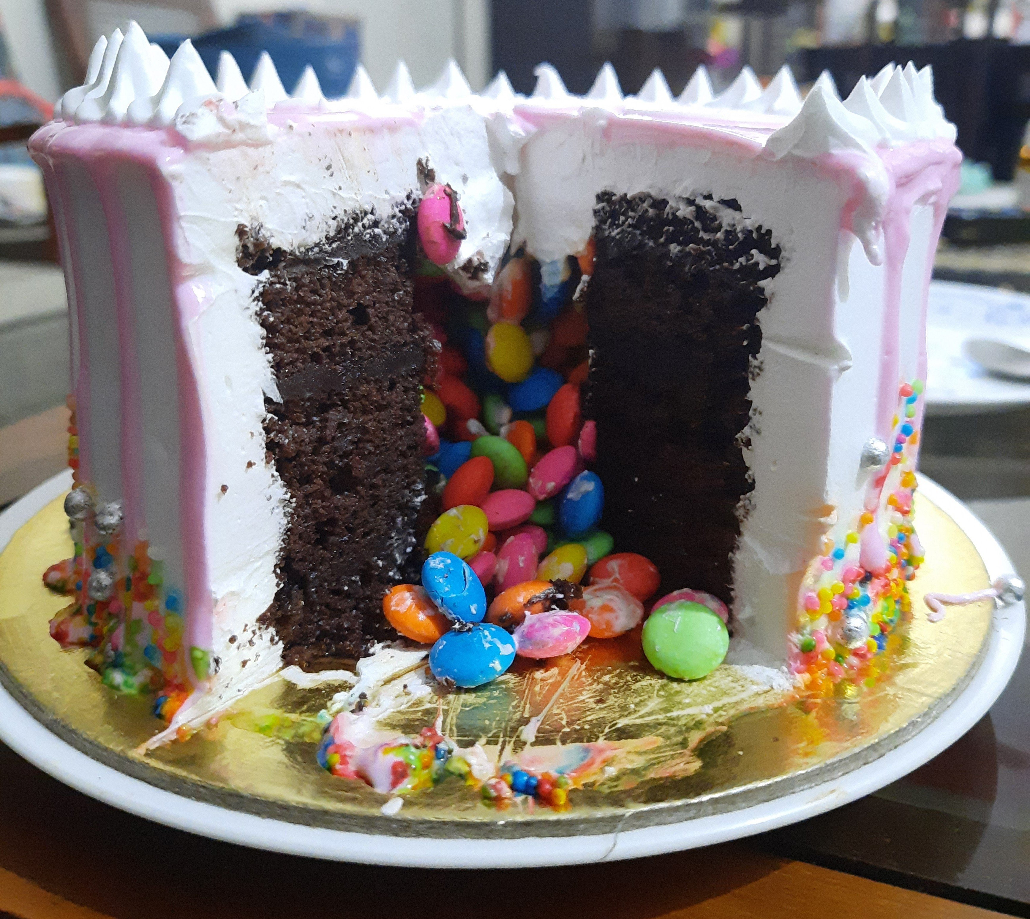 Chocolate Cake With Gems Inside 1 kg