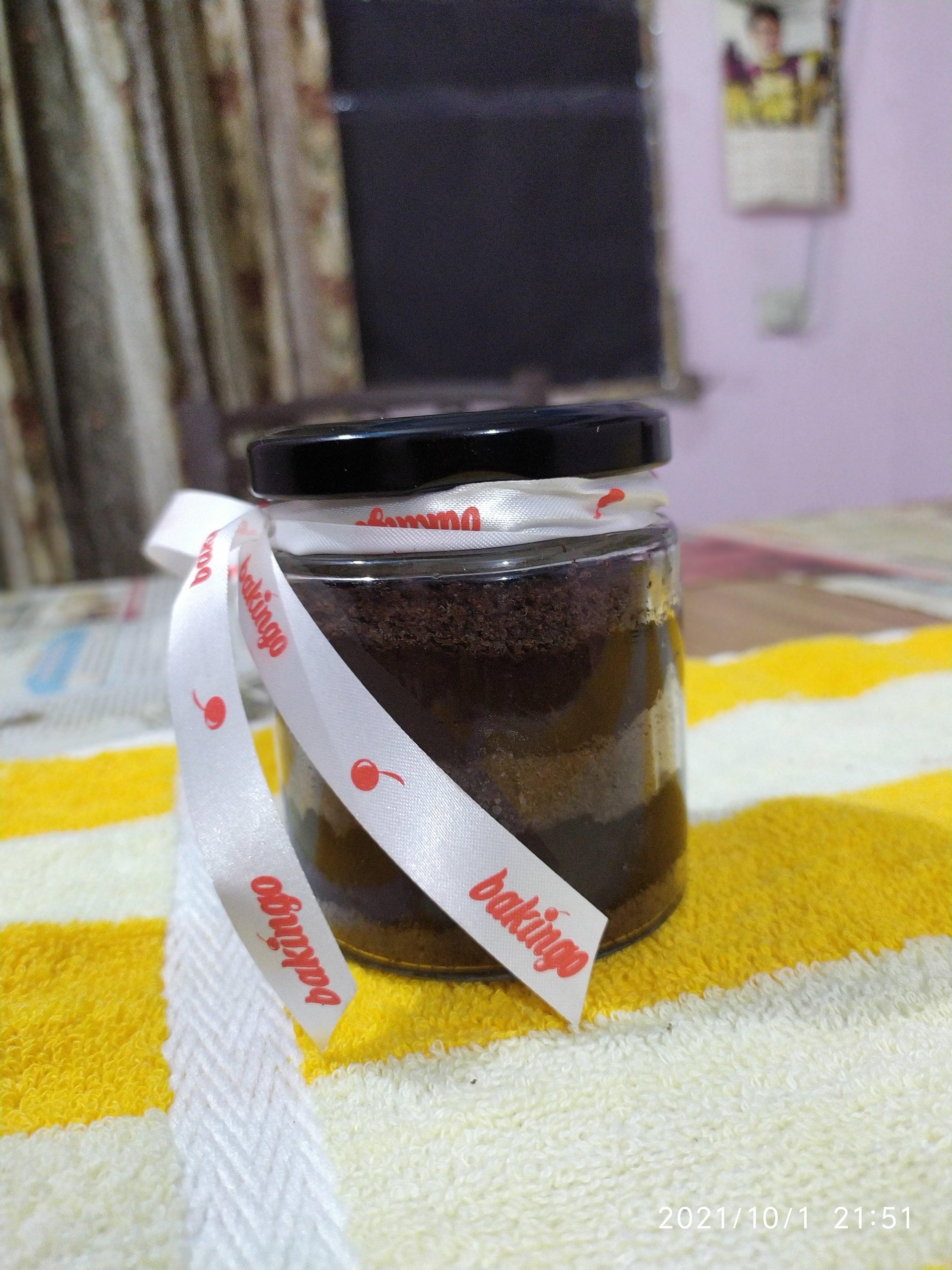 Delicious Birthday Print Chocolate Jar Cake