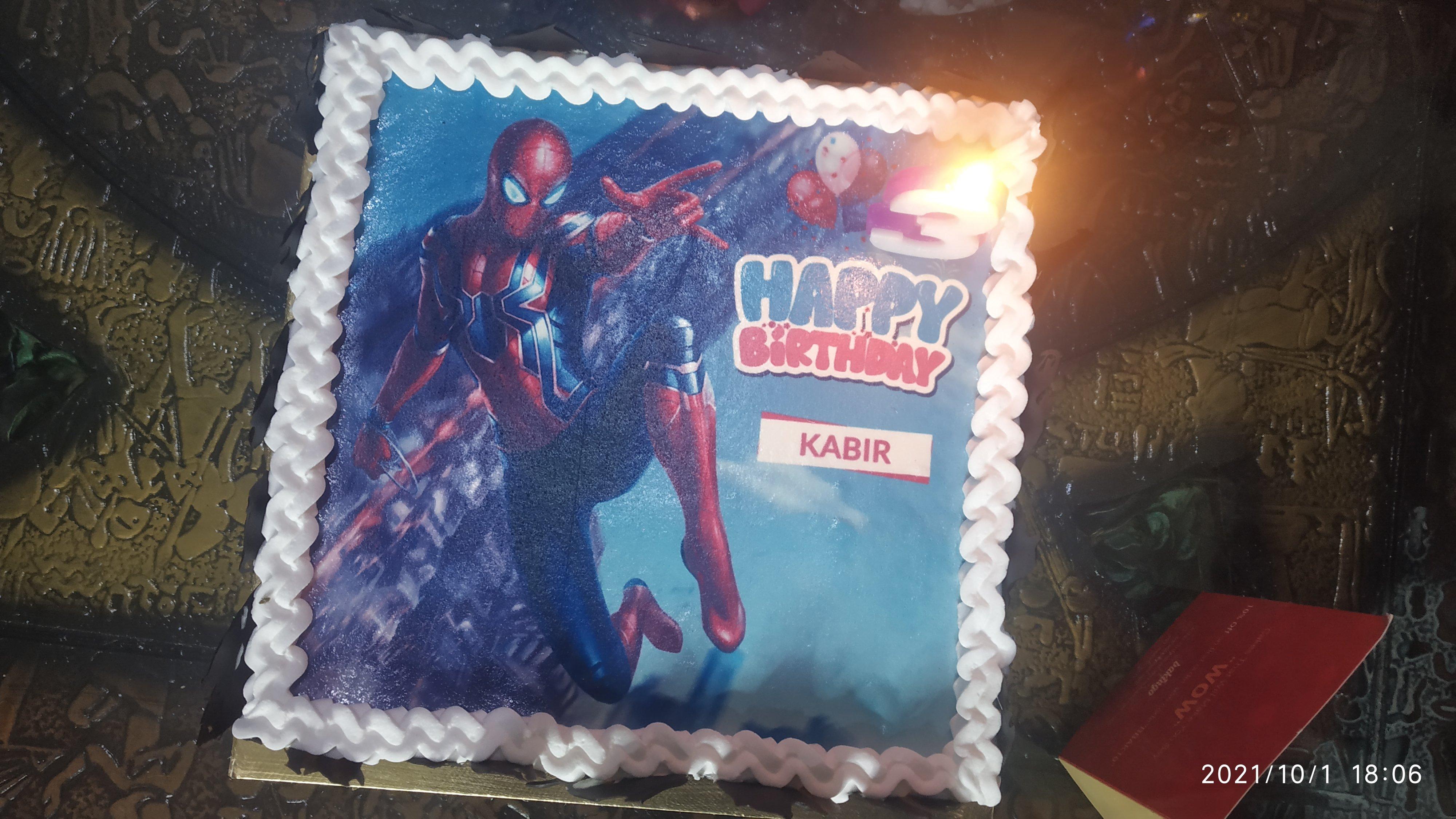 Spiderman Birthday Poster Cake