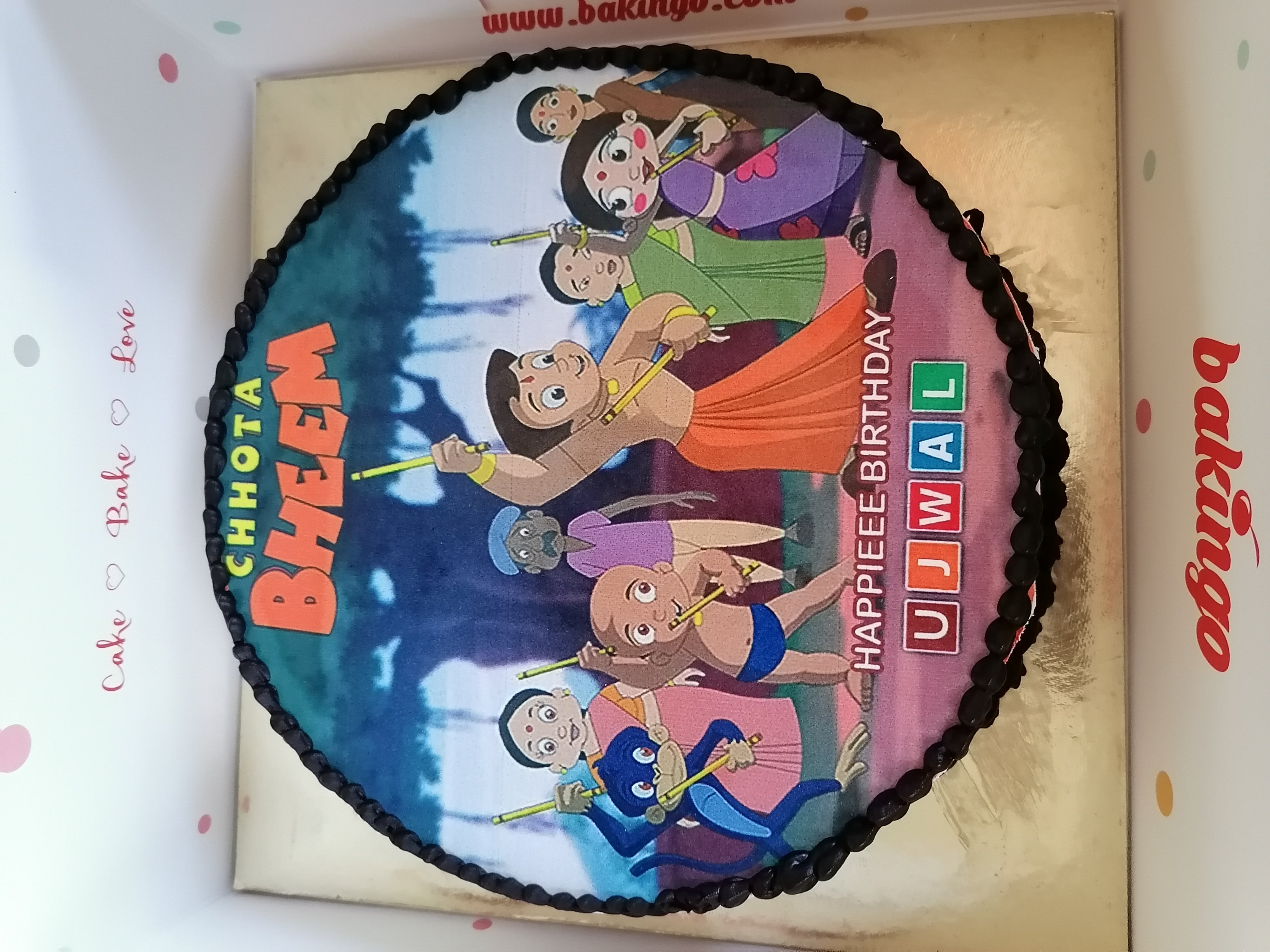Customisable Chota Bheem Poster Cake
