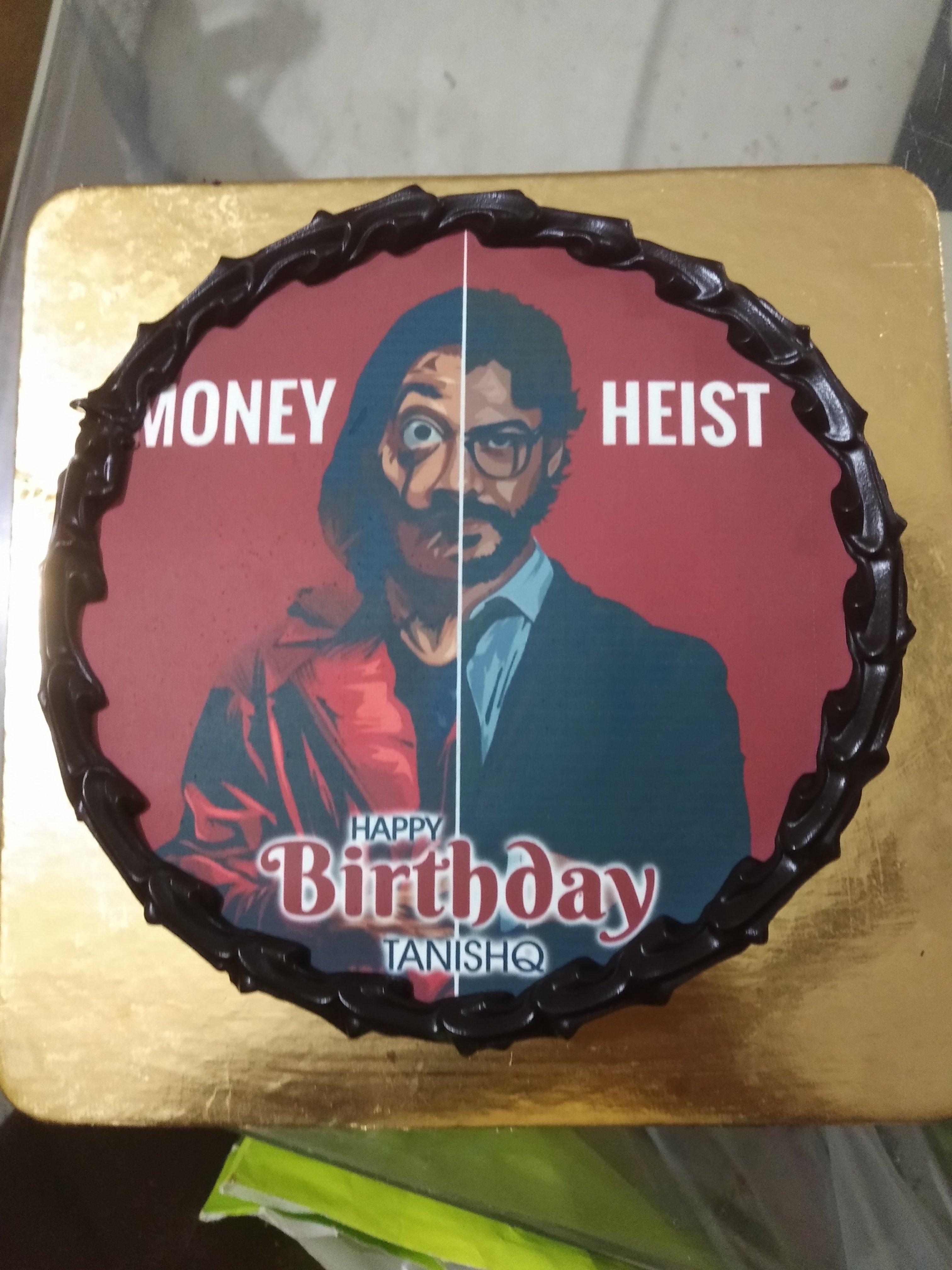 Money Heist Poster Cake