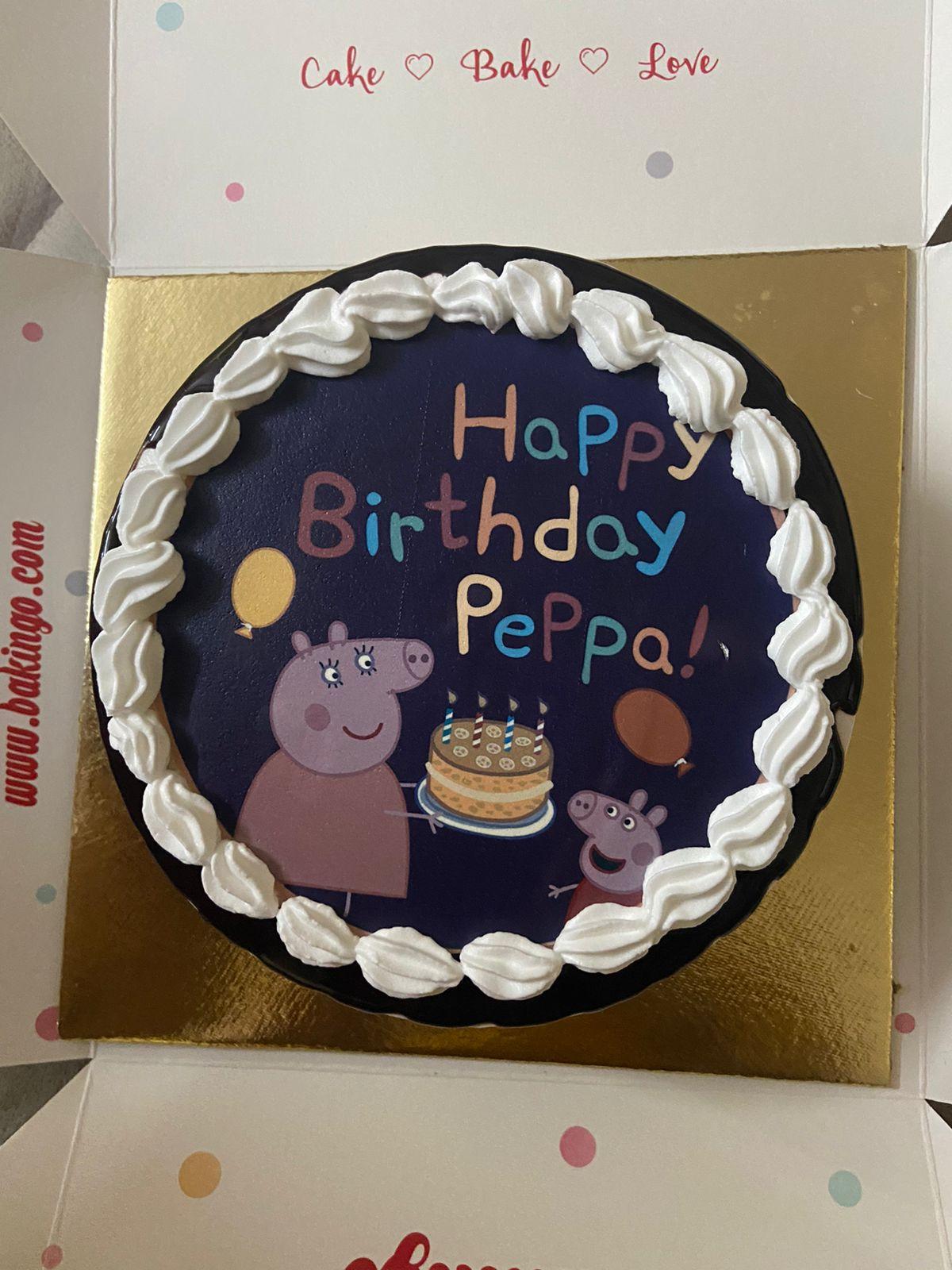 Peppa Pig Happy Birthday Poster Cake
