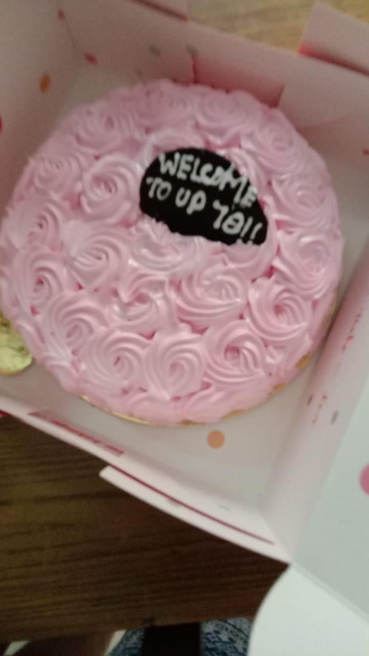 Pretty Pink Rose Strawberry Cake