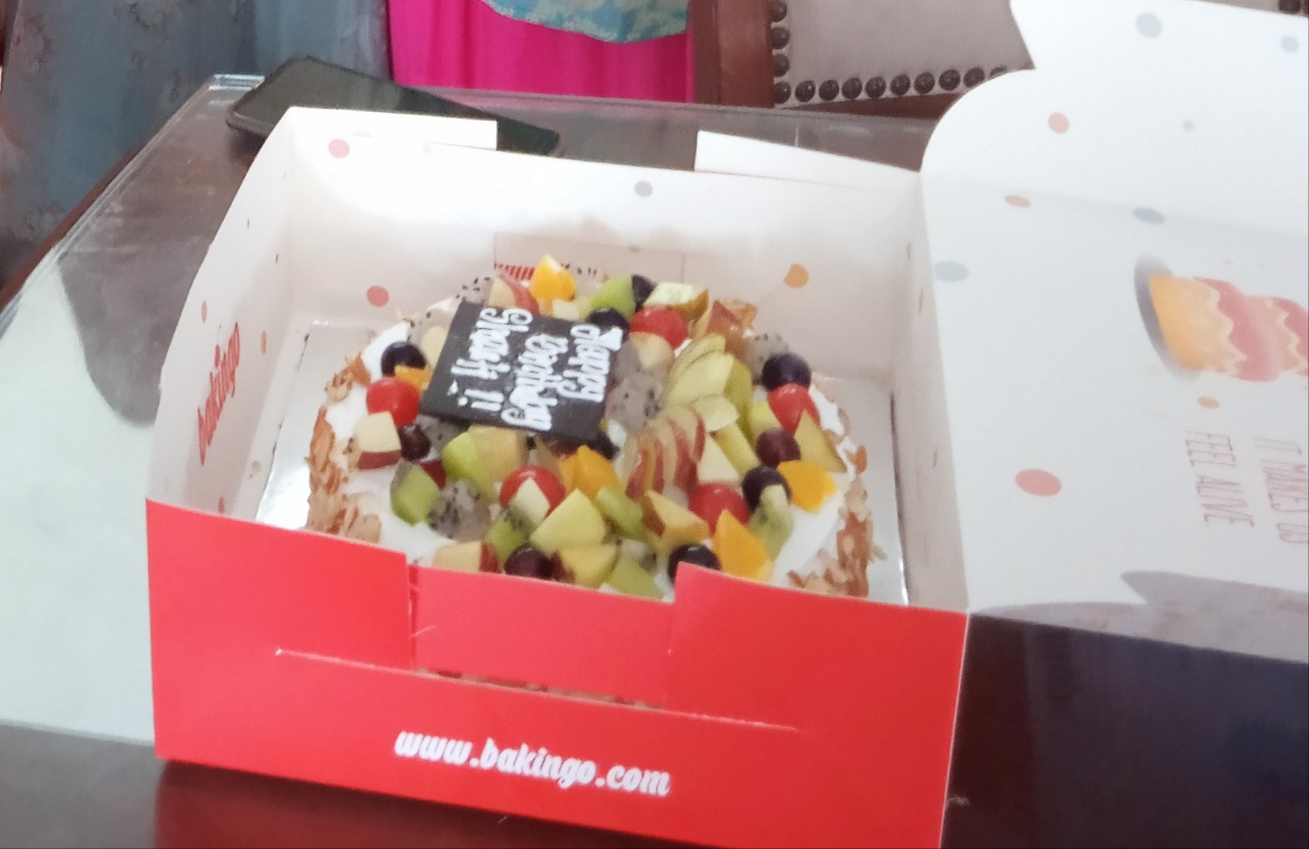 Assorted Fruit and Almond Cake