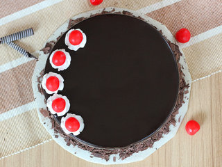 Top View of Hearty Mesmerizer - Black Forest Flavored Cake