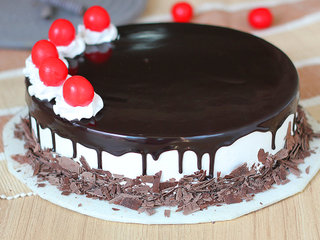 Side View of Hearty Mesmerizer - Black Forest Flavored Cake