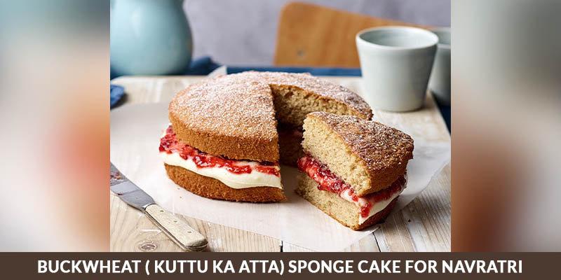 Buckwheat ( KUTTU KA ATTA) Sponge Cake for Navratri
