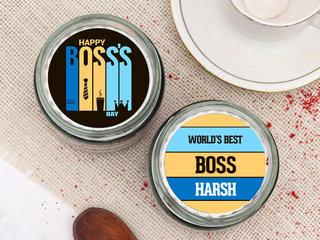 Custom Boss Day Jar Cake
