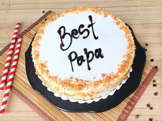 Butterscotch Cake for Dad
