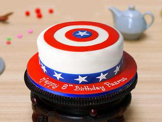 Captain America Theme Cake