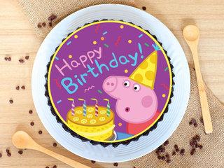 Edible Peppa Pig Chocolate Poster Cake
