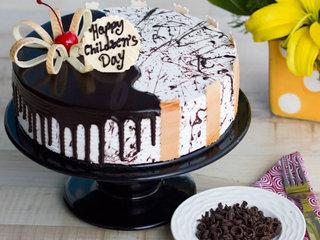 Childrens Day Choco Vanilla Cake