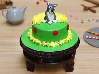 Children's Day Dog Fondant Cake