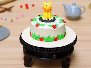 Children's Day Lion Fondant Cake