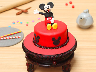 Childrens Day Mickey Mouse Fondant Cake