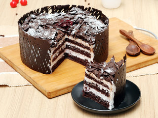 Sliced View of Choco Black Forest Cake