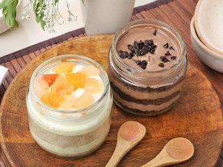 Choco-Chips Fruit Jar Cake Combo