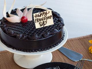 Friendship Day Celebration With Choco Truffle Cake