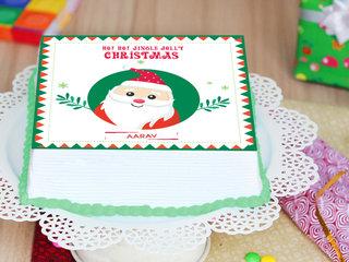 Chritmas Poster Cake With Christmas Greeting Card